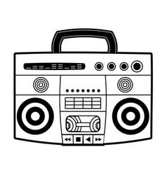 90s radio stereo vector