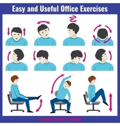Office syndrome health care concept vector