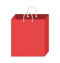 Red shopping bag graphic vector