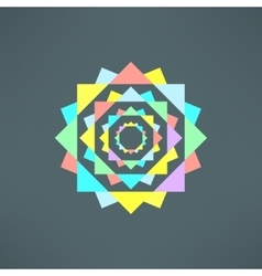 Abstract geometric mandala in modern flat vector
