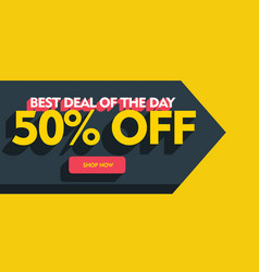 Best deal of the day banner poster template design vector