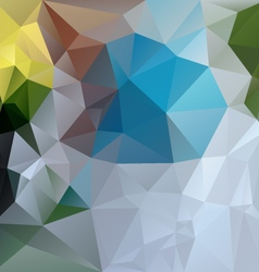 blue green gray abstract polygon triangular vector image vector image