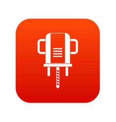 Boer drill icon digital red vector