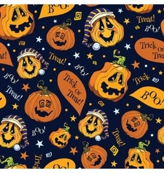 Boo pumpkins halloween seamless pattern vector