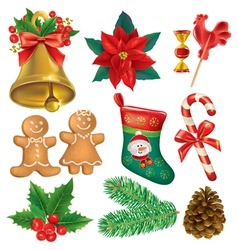 Christmas beautiful set vector image vector image