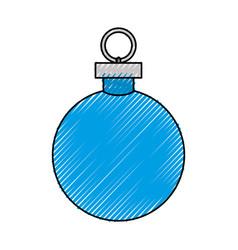 Christmas decorative ball vector