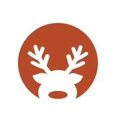 Christmas reindeer decoration isolated icon vector