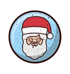 Crystal sphere with face santa claus vector
