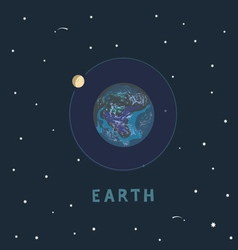 Earth space view vector