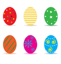 Easter egg icon isolated on white background vector