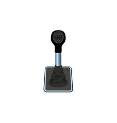 Flat car gear box transmission shifter vector