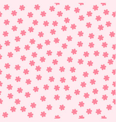 flower background seamless pattern vector image vector image
