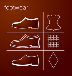 footwear label vector image vector image