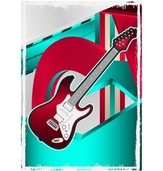 guitar poster vector image
