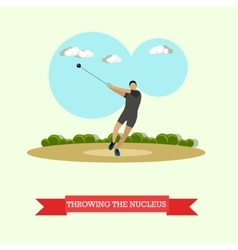 Hammer throw sportsman track and field athletics vector