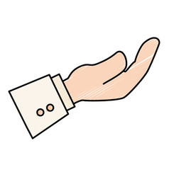 Hand asking isolated icon vector