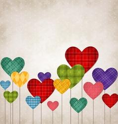 Hearts multicolored vector image