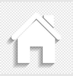 Home silhouette white icon vector