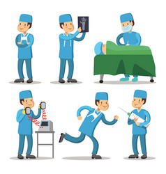 Hospital medical staff character surgeon doctor vector