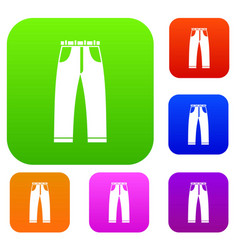 jeans set collection vector image vector image