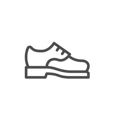 male shoe line icon vector image vector image