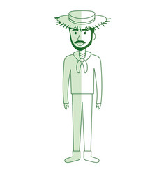 man in farmer costume vector image