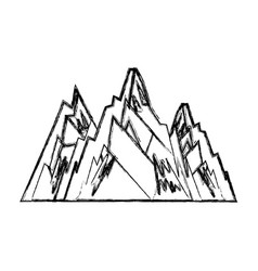 mountain big isolated icon vector image