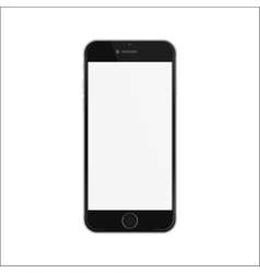 New version of black slim smartphone iphon style vector image