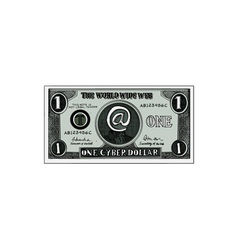 One cyber dollar etching vector