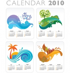 seasons calendar vector image vector image