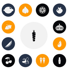 Set of 13 editable fruits icons includes symbols vector