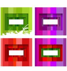 Stripe frames vector