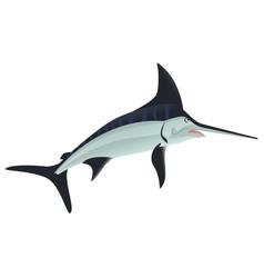 Sword fish sea animal vector