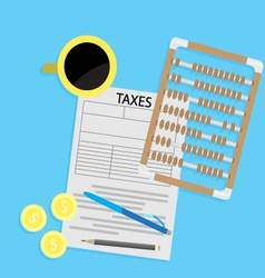 Tax day declaration flat concept vector