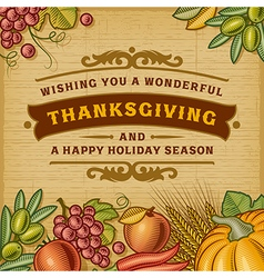 Thanksgiving Vintage Card vector image