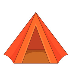 touristic tent icon cartoon style vector image
