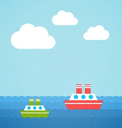 Two Steamers vector image vector image