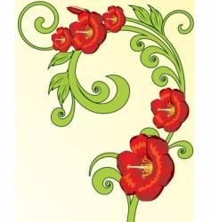 Vintage floral vector