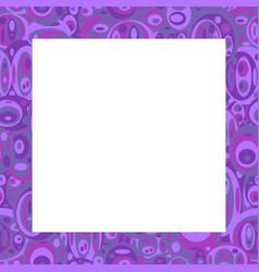 Violet frame with ovals vector