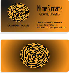 Visit business card vector image