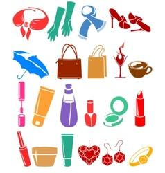 womans belongings vector image