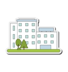White building icon vector