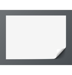 Sheet of paper with curl corner isolated on dark vector