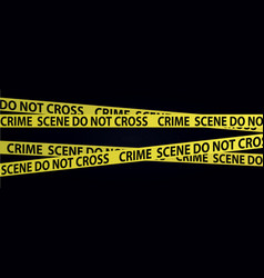 Yellow crime scene tapes vector