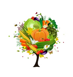 Decorative tree vegetable vector