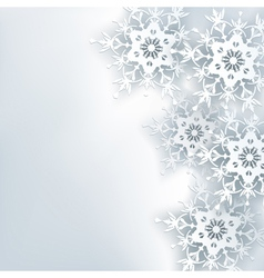 Stylish creative abstract background 3d snowflake vector