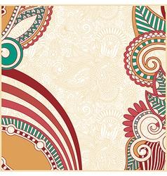 ornate flower background design vector image