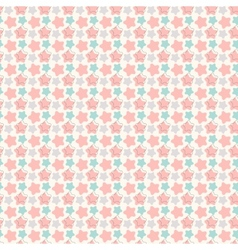 Abstract geometric retro star seamless pattern vector image