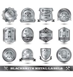 Blacksmith metal label vector
