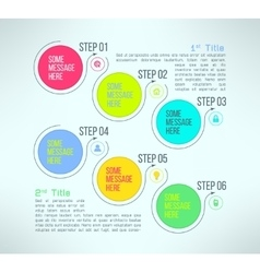 Business process steps infographics vector